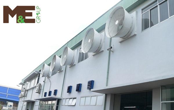 phân loại hệ thống thông gió cho nhà xưởng