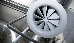 HVAC system in mechanical refrigeration